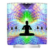 Cosmic Spiral Ascension 11 Shower Curtain