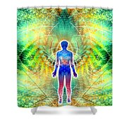 Cosmic Spiral Ascension 12 Shower Curtain