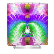 Cosmic Spiral Ascension 13 Shower Curtain