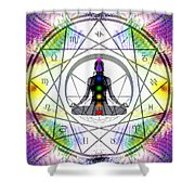 Cosmic Spiral Ascension 14 Shower Curtain