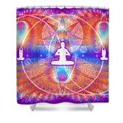 Cosmic Spiral Ascension 15 Shower Curtain