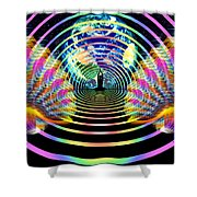 Cosmic Spiral Ascension 16 Shower Curtain