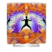 Cosmic Spiral Ascension 19 Shower Curtain