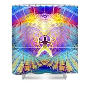 Cosmic Spiral Ascension 20 Shower Curtain