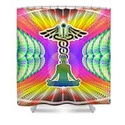 Cosmic Spiral Ascension 21 Shower Curtain