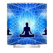 Cosmic Spiral Ascension 22 Shower Curtain