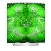 Cosmic Spiral Ascension 24 Shower Curtain