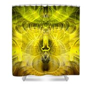 Cosmic Spiral Ascension 26 Shower Curtain