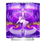 Cosmic Spiral Ascension 27 Shower Curtain