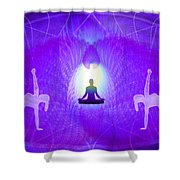 Cosmic Spiral Ascension 28 Shower Curtain