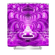 Cosmic Spiral Ascension 29 Shower Curtain