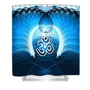 Cosmic Spiral Ascension 30 Shower Curtain