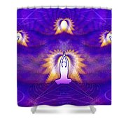 Cosmic Spiral Ascension 31 Shower Curtain