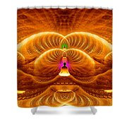 Cosmic Spiral Ascension 33 Shower Curtain