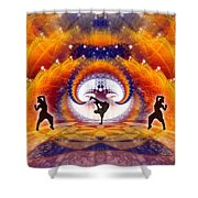 Cosmic Spiral Ascension 54 Shower Curtain