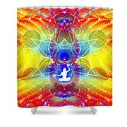 Cosmic Spiral Ascension 56 Shower Curtain