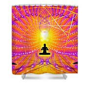 Cosmic Spiral Ascension 57 Shower Curtain