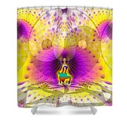 Cosmic Spiral Ascension 62 Shower Curtain