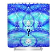 Cosmic Spiral Ascension 65 Shower Curtain