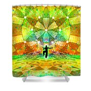 Cosmic Spiral Ascension 66 Shower Curtain
