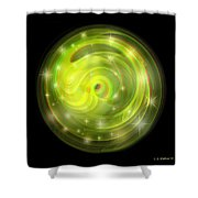 Cosmic Swirl - Use Red-cyan Filtered 3d Glasses Shower Curtain