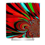 Cosmic Wimpout 1980 Shower Curtain