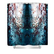 Cosmic Winter Shower Curtain by Jennifer Rondinelli Reilly - Fine Art Photography