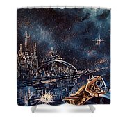 Cosmo Jet Shower Curtain
