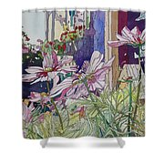 Cosmos At The Coffee Shoppe Shower Curtain