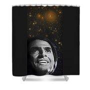 Cosmos- Carl Sagan Shower Curtain