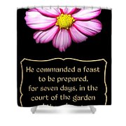 Cosmos Flower With Bible Quote From Esther Shower Curtain