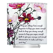 Cosmos Poem Shower Curtain