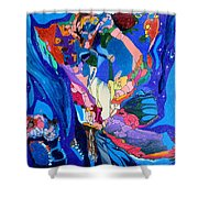 Cosmos2 Shower Curtain