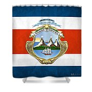 Costa Rica Coat Of Arms And Flag  Shower Curtain