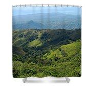 Costa Rica Greens Shower Curtain