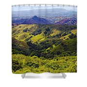 Costa Rica Mountains Shower Curtain