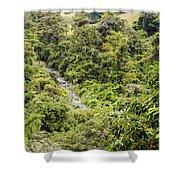Costa Rica Zip Line View Shower Curtain