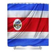 Costa Rican Flag Shower Curtain