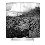 Costa Rican Volcanic Rock  Shower Curtain
