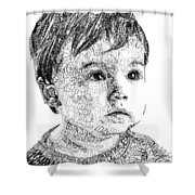 Costin Boy Shower Curtain