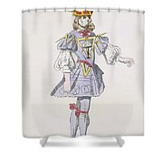 Costume Design For Geometry In A 17th Shower Curtain