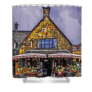 Cotswold Street Market Shower Curtain