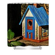 Cottage Birdhouse Shower Curtain