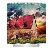 Cottage By The Sea - Abstract Realism Shower Curtain