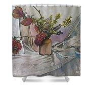 Cottage Flowers Shower Curtain