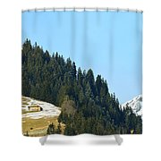 Cottage In Alps Shower Curtain