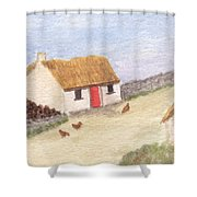 Cottage In The West Shower Curtain