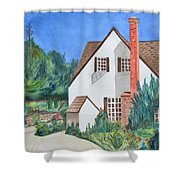 Cottage On A Hill Shower Curtain