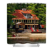 Cottage On A Lake Shower Curtain