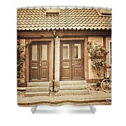 Cottage Townhouses In Lund Shower Curtain
